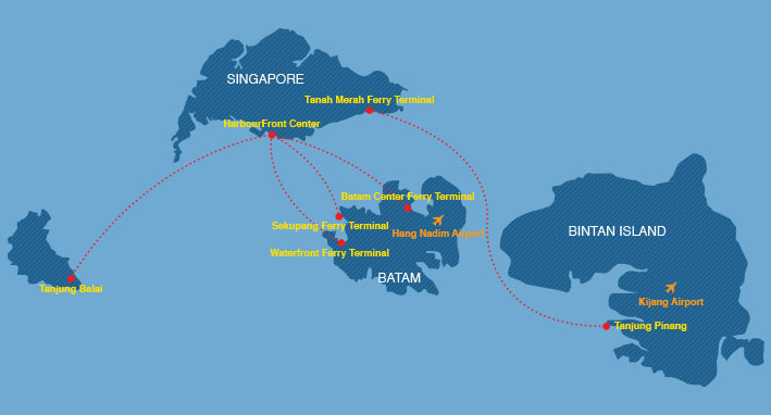 Route Map SINDO FERRY Travel on our new FAST FERRIES